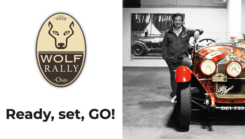Logo Wolf Rally met auto