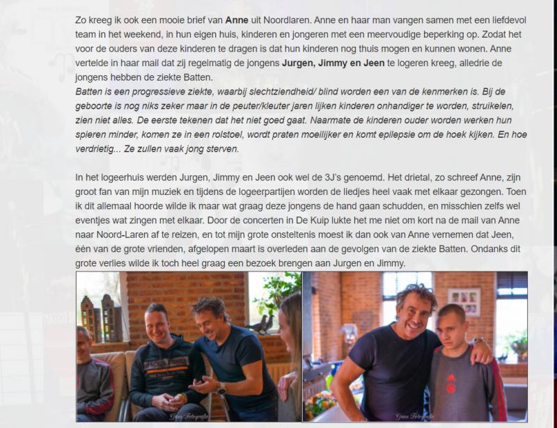 Blog Marco Borsato over ziekte Batten