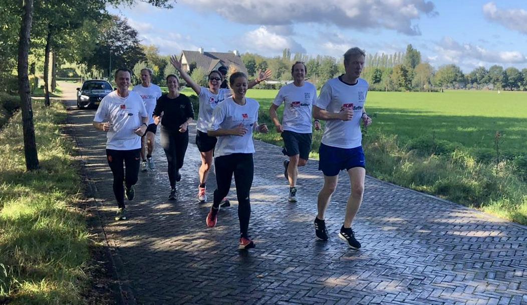 Marathon Daphne met zes teamleden